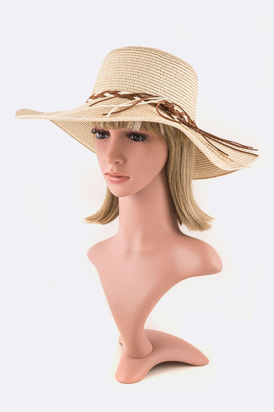 Braided Suede Band Straw Hat
