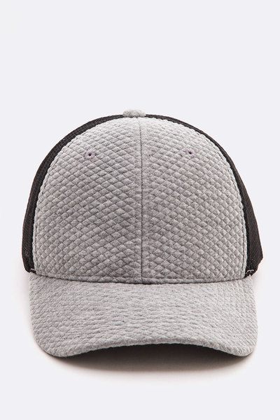 Quilted Cotton Mesh Back Trucker's Hat