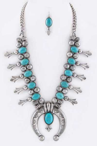 Squash Blossom Necklace Set