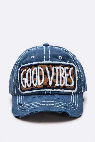 Good Vibe Embroidered Patch Vintage Cap