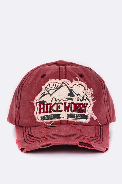 Hike More Worry Less Vintage Cotton Cap