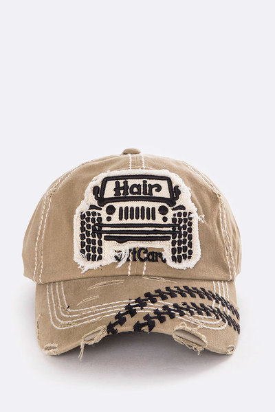 Jeep Hair Don't Care Distress Washed Cap