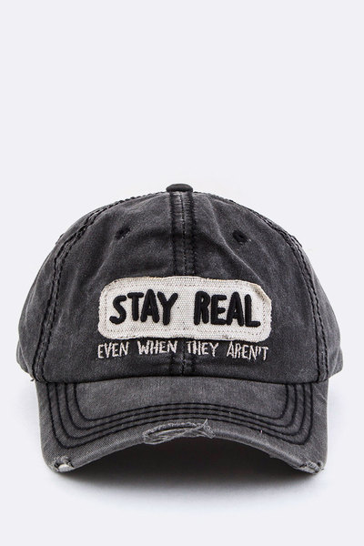 Stay Real Vintage Washed Cotton Cap