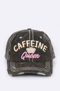 Caffeine Queen Iconic Washed Vintage Cap