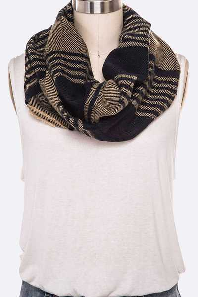 Mix Stripes Infinity Scarf Set