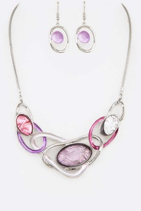Mix Jewels Statement Necklace Set