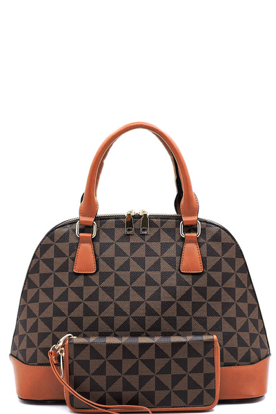 Monogrammed 2-in-1 Dome Satchel