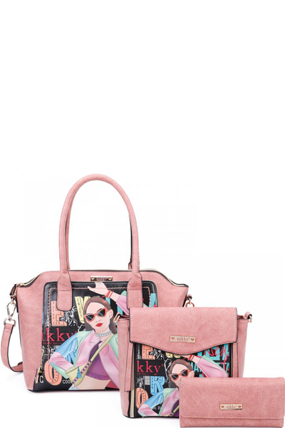 NIKKY VICKY DOES SPORTS SATCHEL 3PC SET