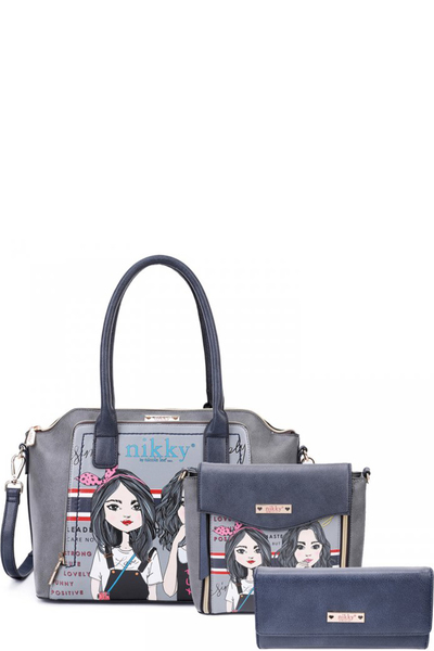 NIKKY TWIN SISTER SATCHEL 3PC SET