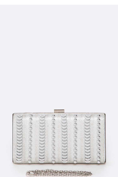 Mix Studded Iconic Box Clutch