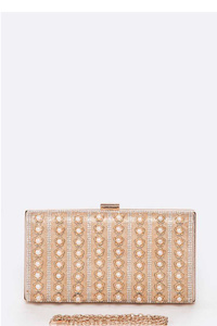 Pearl Studded Iconic Box Clutch