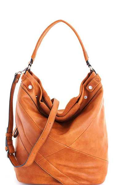 Genuine Leather Modern Chic Tote Bag with Long Strap