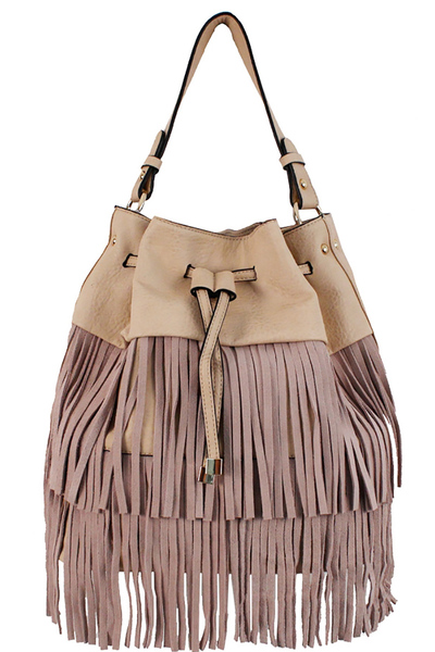 Trendy Modern Western Style With Fringes Decorated Fashion Handbag