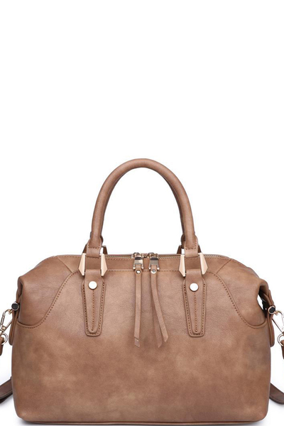 Smooth Vegan Leather Emmerson Satchel