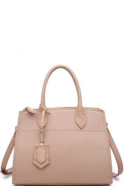 Luxury Cooper Satchel Bag With Long Strap