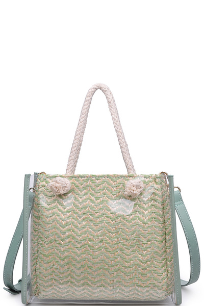 Urban Expression Clear Canvas Tote Bag With Inner Pouch