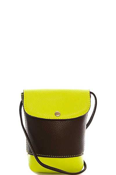 Triple 7 Street Level TWO TONE CROSSBODY PURSE