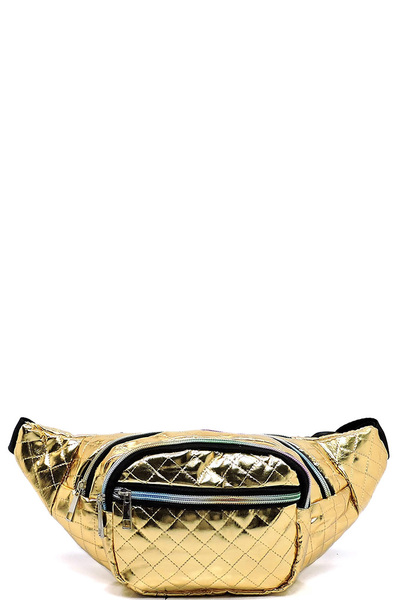 Quilted Metallic Fanny Pack