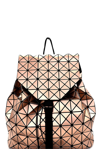 Geometry Patchwork Unique Patent Backpack