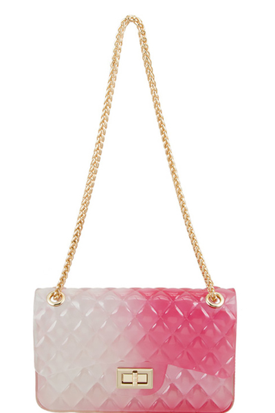 Two Tone Quilted Style Small Jelly Crossbody