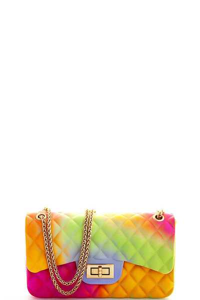 HOT TRENDY RAINBOW TENDER JELLY CROSSBODY BAG