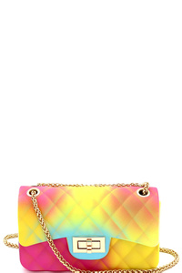 Multicolored Jelly 2-Way Small Shoulder Bag