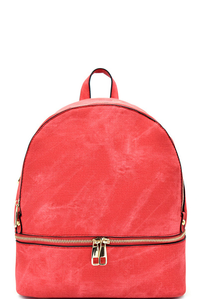 Fabric Textured Vegan Leather Fashion Backpack