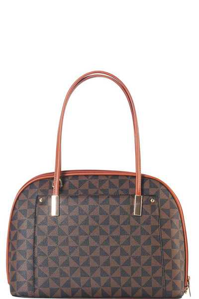 3IN1 TRENDY PATTERN DOMED SATCHEL SET WITH MATCHING WALLET