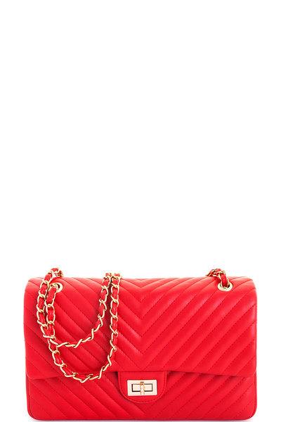 Designer Modern Classy Satchel with Linked Chain