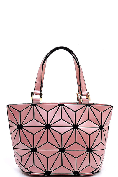 Glossy Geometric Patchwork Tote bag