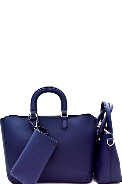 Handle Accent Two-Tone 3 in 1 Satchel Value SET