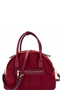 Quilted Nylon 2-Way Dome Satchel