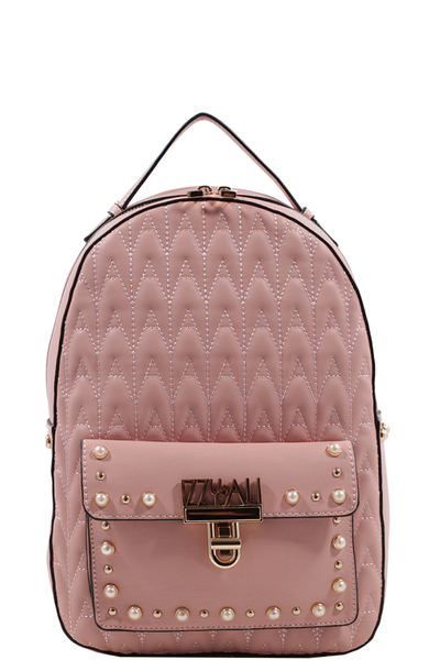 IZZY & ALI Chevron Quilted Backpack