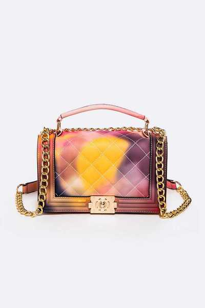 Opaque Jelly Embossed Iconic Shoulder Bag