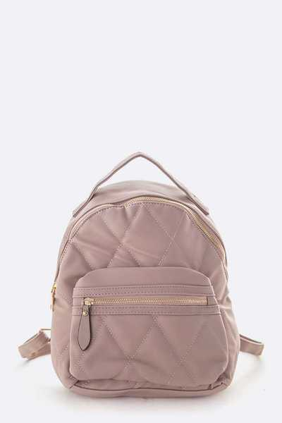Soft Quilted Small Fashion Back Pack
