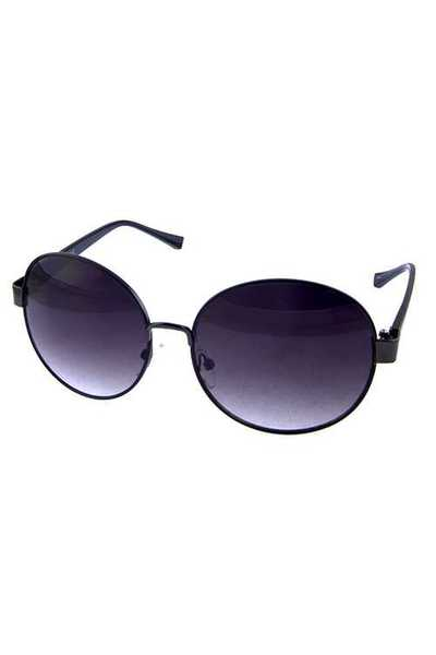 Womens round geometric circle metal sunglasses
