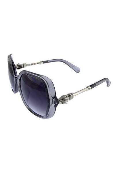 Womens square plastic metal blended sunglasses
