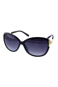 Womens metal blended square plastic sunglasses