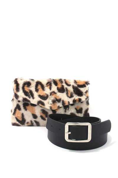 ANIMAL PRINT PATTERN FANNY PACK BELT