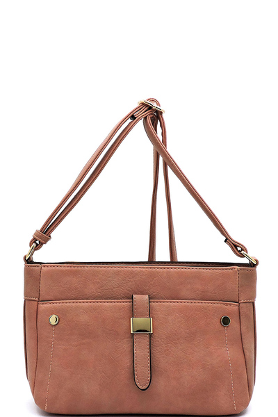 Fashion Front Pocket Crossbody Bag