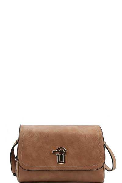KEY HOLE ACCENT LUCIANNA CROSSBODY BAG
