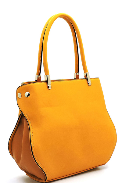 Fashion Colorblock Top Handle Satchel