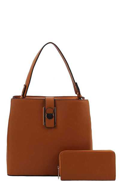 2IN1 MODERN FASHION SATCHEL WITH MATCHING WALLET