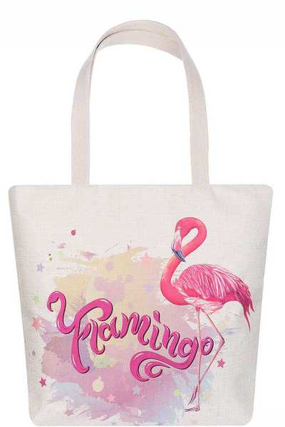 FASHION FLAMINGO PRINT ECCO TOTE BAG