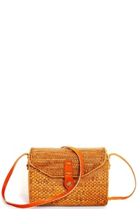 DESIGNER CUTE NATURAL FIBER WOVEN CROSSBODY BAG