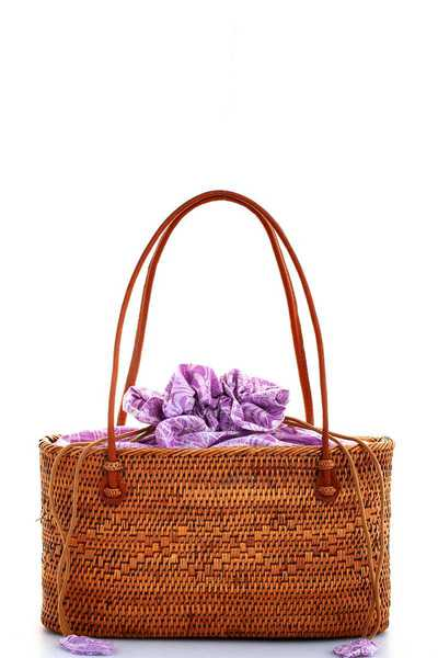 CHIC HAND MADE NATURAL WOVEN TOTE BAG