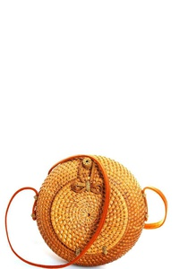STYLISH NATURAL FIBER WOVEN TRENDY CROSSBODY BAG