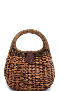 CUTE STYLISH NATURAL FIBER WOVEN PURSE