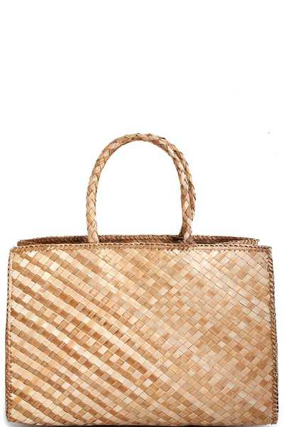 3IN1 NATURAL FIBER WOVEN TRENDY TOTE SET