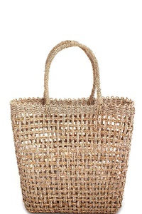 TRENDY HAND MADE NATURAL WOVEN TOTE BAG